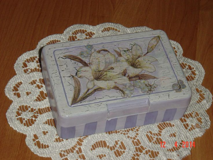 pudełko z decoupage
