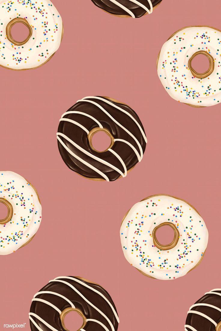Doughnut Aesthetic Wallpaper In 2021 Food Wallpaper Cute Food Wallpaper Donut Drawing