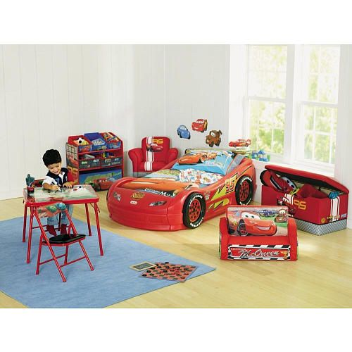 Little Tikes Disney Pixar s Cars The Movie Lightning McQueen Plastic Toddler Bed Lightning ...