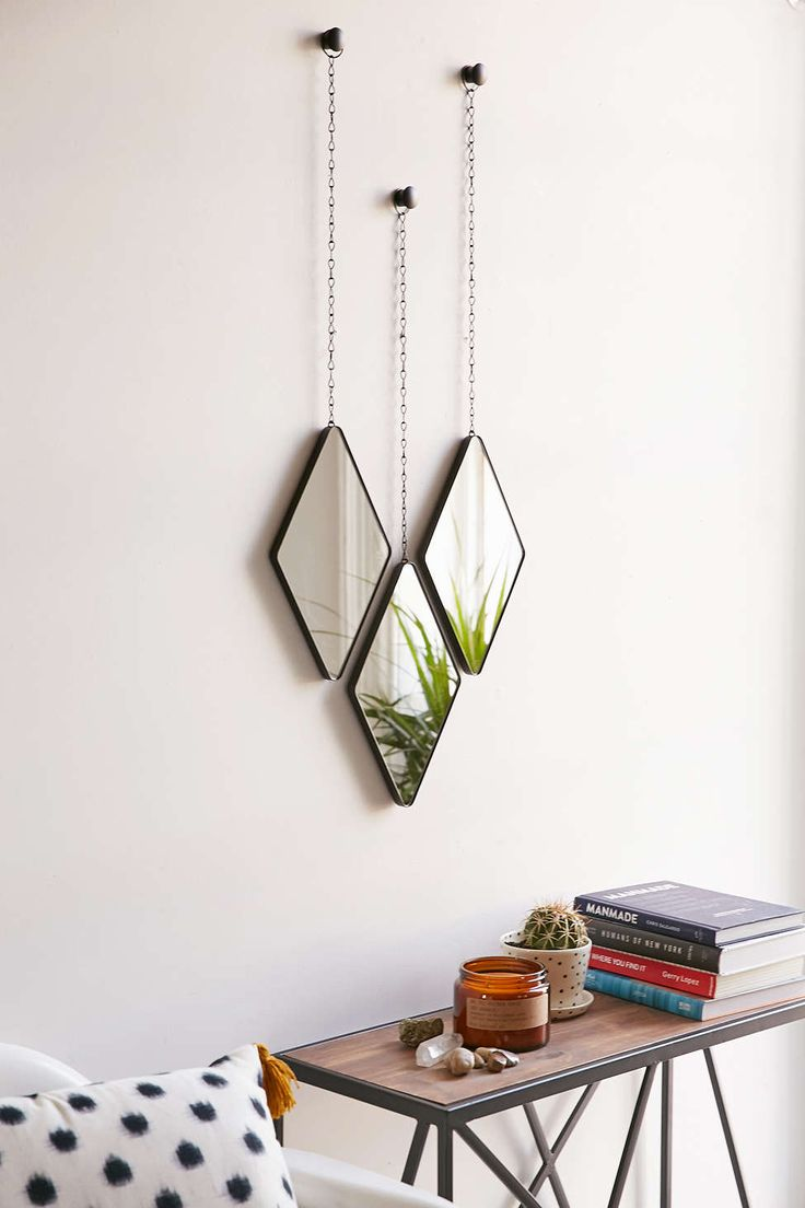 Geo hanging mirror set from Urban Outfitters - Decoist                                                                                                                                                                                 More