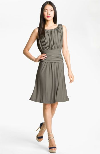 Suzi Chin for Maggy Boutique Pleated Drape Bodice Jersey Dress available at #Nordstrom