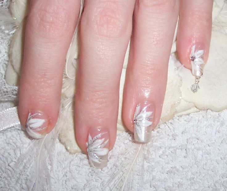 34 best Nails for wedding images on Pinterest | French tip pedicure ...