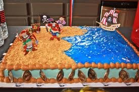 dinosaur & pirate cake - Google Search