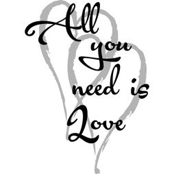 Väggdekor    All you need is Love   140 x 190mm