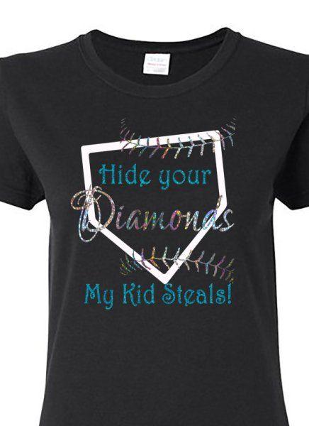 hide your diamonds baseball shirts for momssoftball