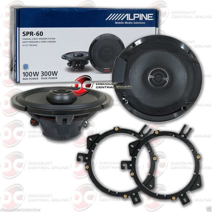 Car Speakers and Speaker Systems: Alpine Spr-60 6.5 2-Way Car Audio Coaxial Speakers (Pair) -> BUY IT NOW ONLY: $109.99 on eBay!