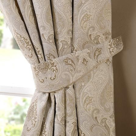 Dunelm Beige Curtain Tiebacks