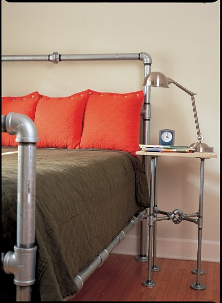 Galvanized Pipe bed and side table - www.nancygentdesigns ...