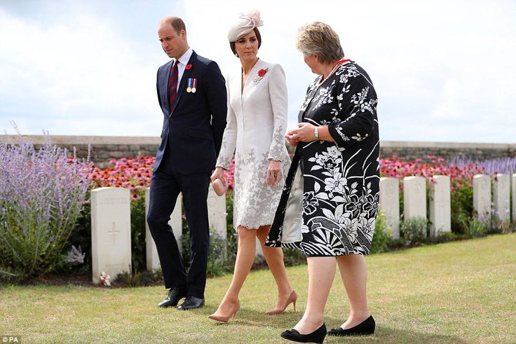 The Duke and Duchess of Cambridge speak with Victoria Wallace, Director General of the Com...