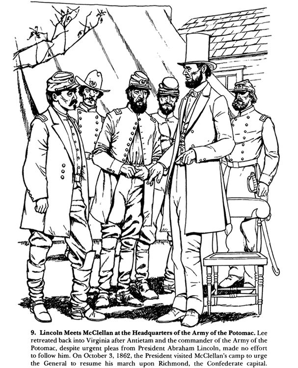 from from antietam to gettysburg a civil war coloring book - American Civil War Coloring Pages