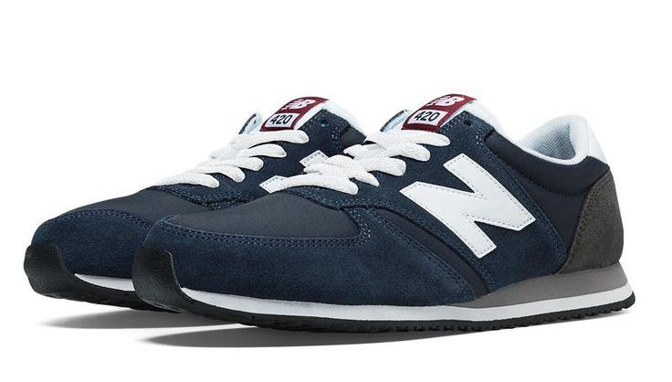 420 70s Running, Navy with White