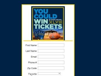 Enter the NFL Ticket Exchange Super Bowl XLVIII Sweepstakes for a chance to win a 3-day/2-night trip for two to Super Bowl XLVIII in East Ru...