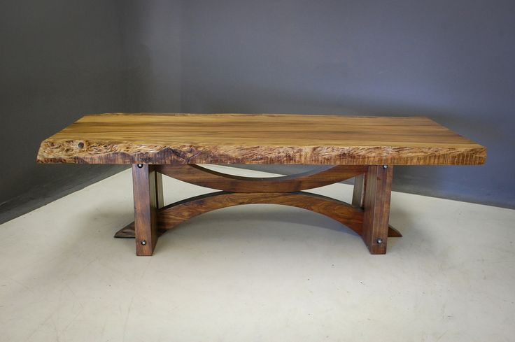 Custom Alsace Dining Table with Waney Edge Top