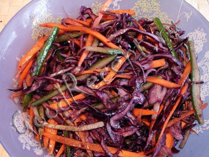 Рецепты из красной капусты китайского салата