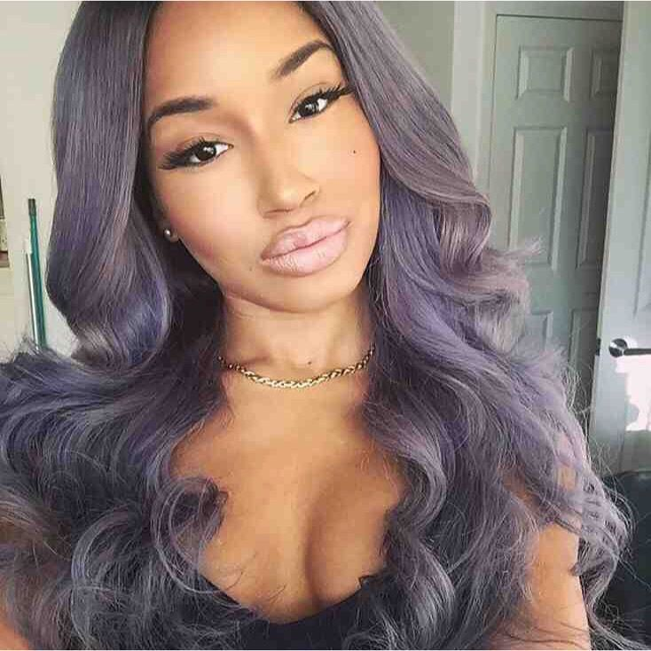 Gray purple hair