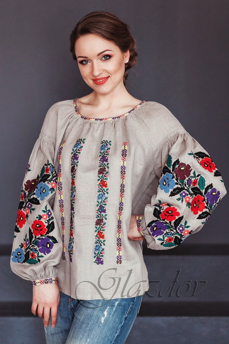Вышиванка by GLAZDOV on Etsy #ukranian_embroidery #vyshyvanka #embroidered_blouse #вышиванка