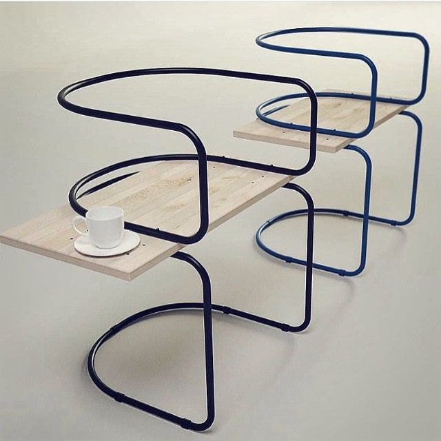 @espritdesign posted these #beautiful #café #chairs from the #AIR #collection by #SargeiKotsepup