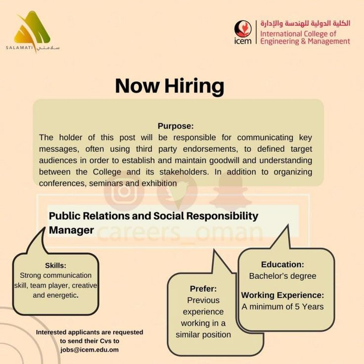 Public Relations Manager Openings Oman in 2020 (With