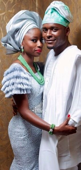 I love these colors!! A nod to my mom's heritage and the beautiful traditional Naija wedding clothes.