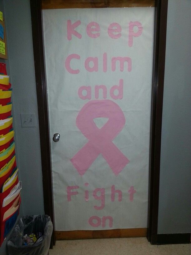 Breast cancer awareness week. Classroom door banner