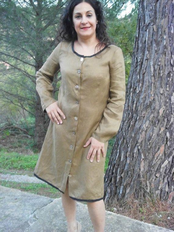 BLUFI un vestito bellissimo e attraende di lino lana o by domoras