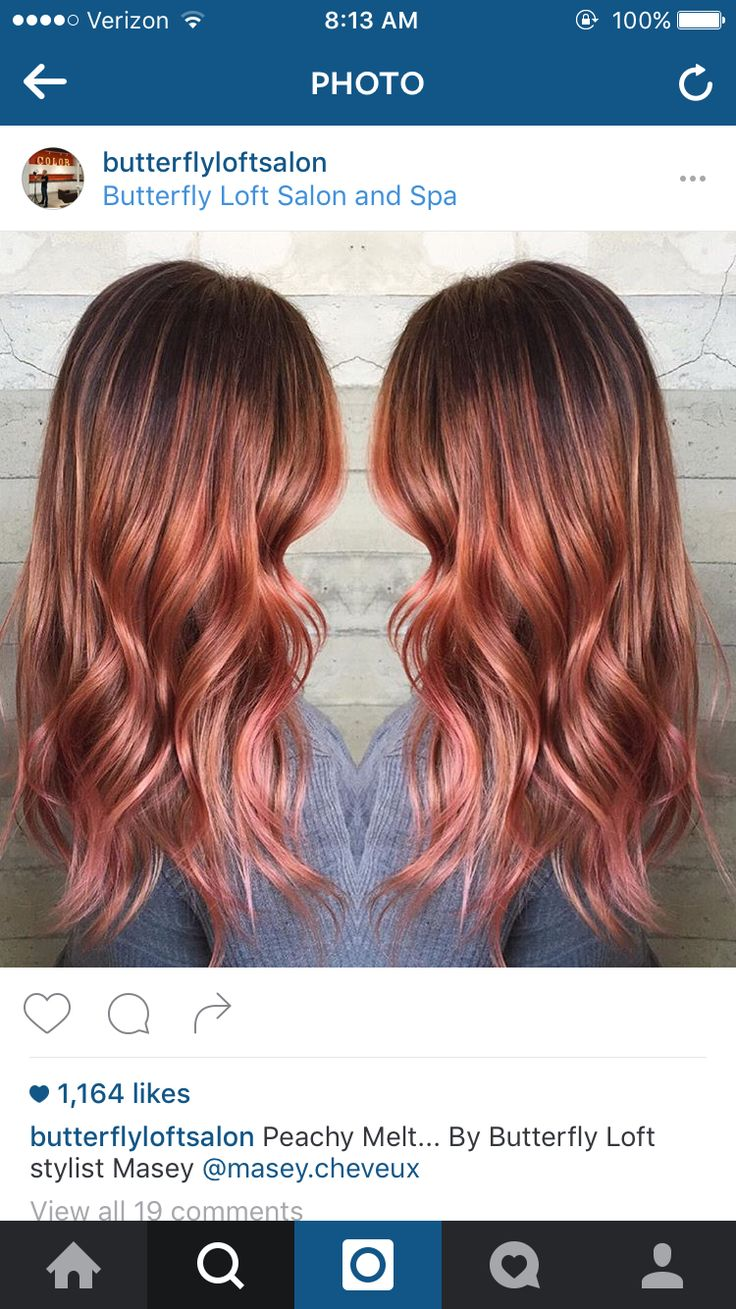 Rose gold ombre hair