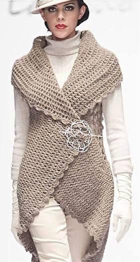 Afbeeldingsresultaat voor circular vest crochet pattern