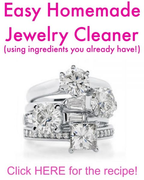 Quick and Easy Homemade Jewelry Cleaner - Make this using ingredients you already have! | www.classyclutter.net