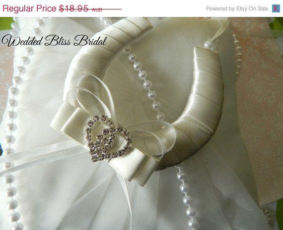 ON SALE Wedding Bridal Horseshoe charm  Ivory by WeddedBlissBridal, $17.06