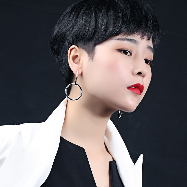 Valentines Gift Korean Style Circle Drop Earrings Womens Simple Geometric Gold/Silver Plated Copper Earrings