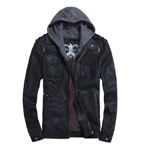 THOOO Men's Cool Zip Up Leather Hooded Biker Jacket Rock Punk Jackets Coat Black XXL THOOO http://www.amazon.co.uk/dp/B00F13JIJK/ref=cm_sw_r_pi_dp_9xzOub185211X