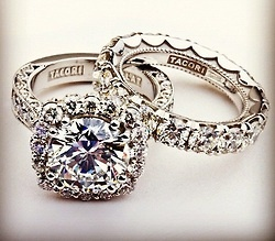 this is my absolute dream engagement ringband combination custom tacori engagement ring and wedding band with combined carat weight of style no - Pinterest Wedding Rings
