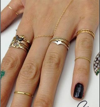 Catbird dainty stacking rings.