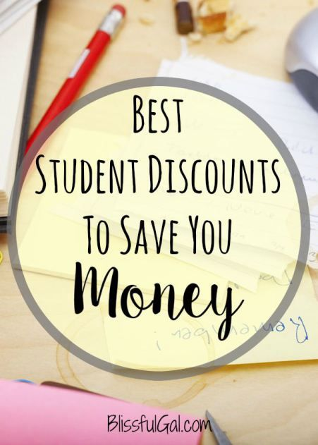 These awesome student discounts will help you save so much money! HINT: keep your ID even after you graduate because some companies still accept them!