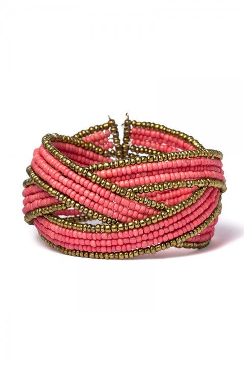 Setze ein farbliches Highlight mit diesem schicken #Armreif! https://www.burlesque-dessous.de/burlesque/accessoires/schmuck/armreif-coral
