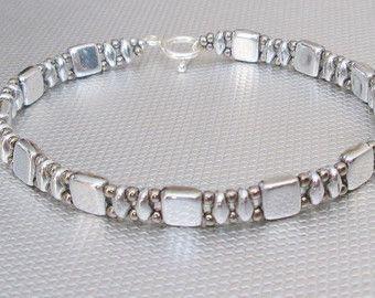 Green tila wrap bracelet bead bracelet superduo beadwork bracelet