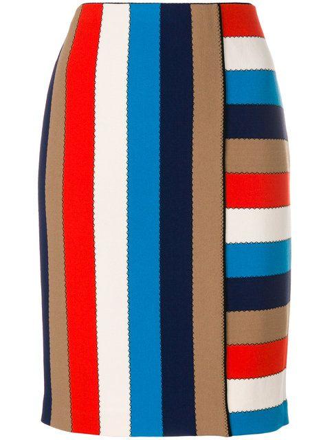 Shop Marc Cain striped skirt