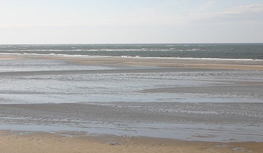 Ebbe und Flut in der Nordsee vor Niedersachsen