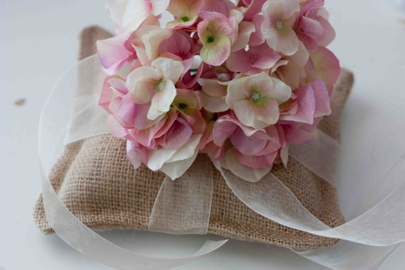 Medium Ring Pillow With Ribbon and Premium Flower by sweetcs, $25.00