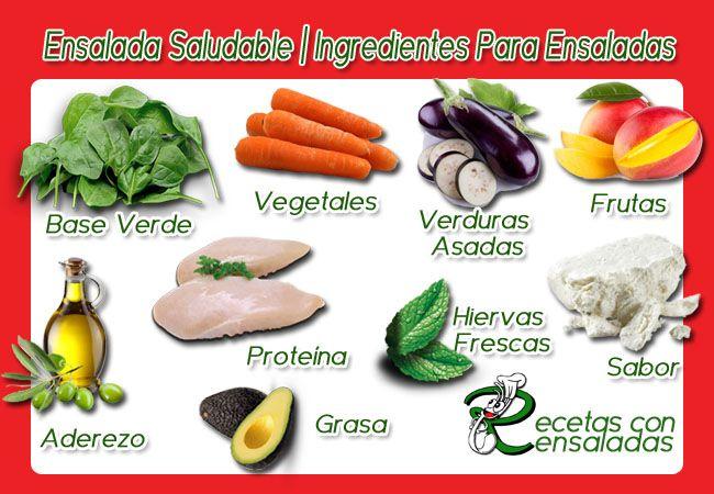 Ensalada Saludable | Ingredientes Para Ensaladas