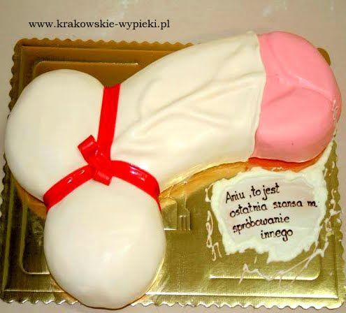 Tort na wieczór panieński zrobiony przez Cukiernię Krakowskie Wypieki