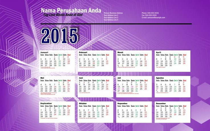 Kalender 2015 Indonesia - Design_41_Tilt