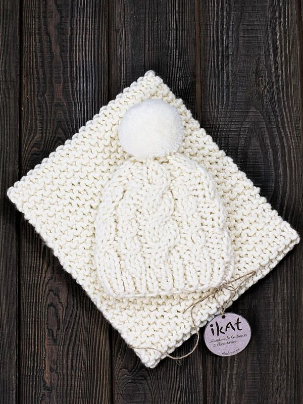 Cabled Chunky Beanie and Snood by IKAT
