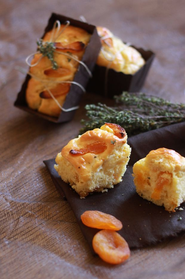 Cake abricots secs et chèvre 3 CAKES ABRICOTS SECS ET CHEVRE