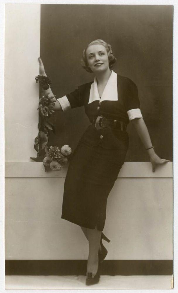 DONNA ADA Foto Ritratto d Epoca Old Photo Portrait Vintage 1935 Moda F283