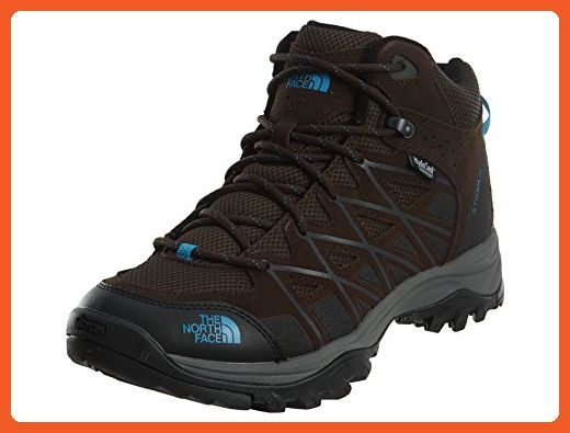 The North Face Storm III Mid WP Demitasse Brown/Hyper Blue Women's Hiking Boots - Boots for women (*Amazon Partner-Link)