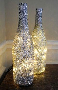 Glitter Wine Bottles http://haveheartdaily.net