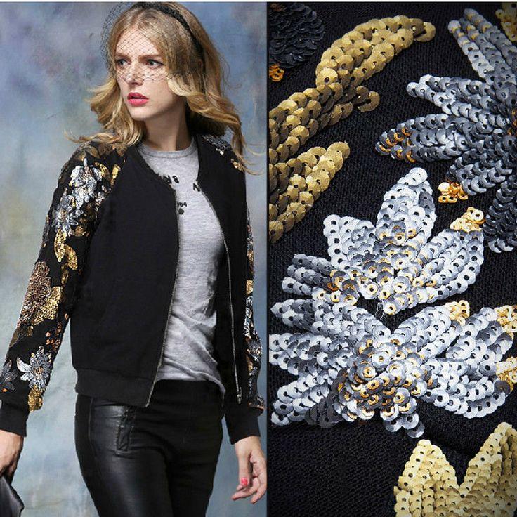 Autumn/Winter Womens Sequins Long Sleeve Embroidery Zipper Joker Jacket Coat #Unbranded #Jacket