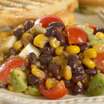 Corn and Black Bean Salad- Perfect Tailgate Food! Come to the GNS to get some Spicy Corn Relish!
