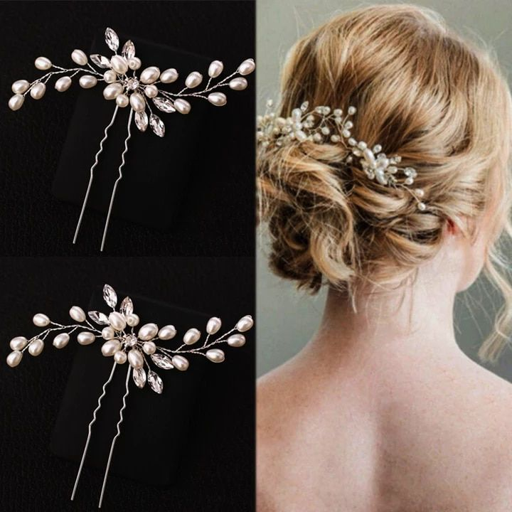 66029ffc27 ALL 76.87 26% Off | Flower Hair Accessories 1PC Pearl Handmade ...